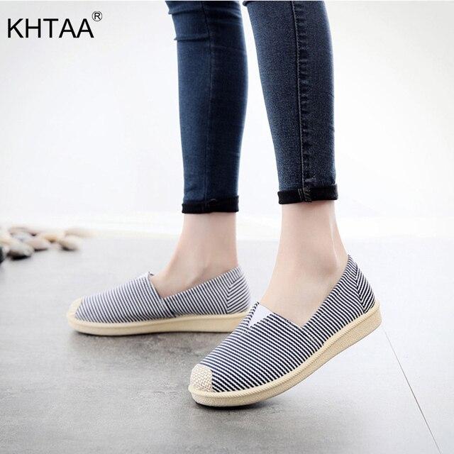 KHTAA Yeni Kadın Flats Dikiş Moccasins Şemsiye Yumuşak kayma Kadın Loafer'lar İlkbahar Sonbahar Tekne Ayakkabı Rahat Bayanlar Konfor 2019