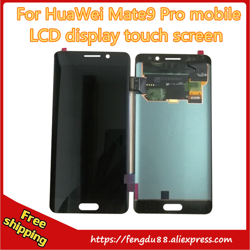 For Huawei Mate 9 Pro  LCD Display + Touch Screen Digitizer Glass Sensor Assembly Replacement Parts 5.5 inch Free shipping for letv le1 pro x800 lcd display monitor touch screen digitizer glass sensor assembly replacement parts high quality