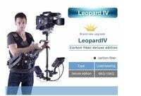 WONDLAN Steadicamu Leopard 4 Carbon fiber Steadycam Steadicamu Video Camera 6-15 KG Vest Arm monitor LCD w/sprawa Darmowa wysyłka