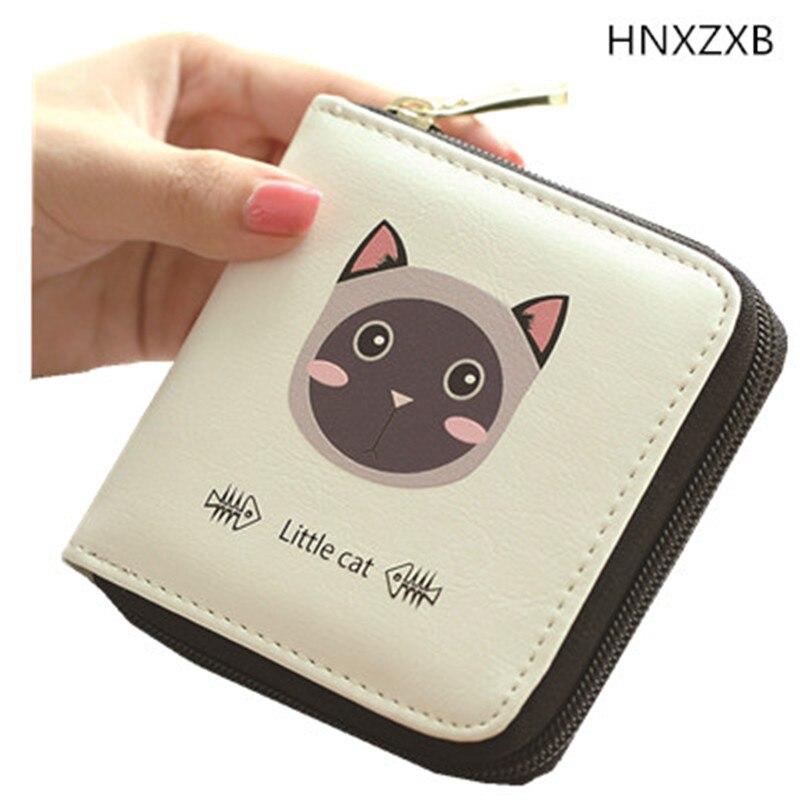 HNXZXB Cute Small Wallets 2017 New Design Female Coin Purse Girl Student Short Zipper Hasp Money Bag Clutch