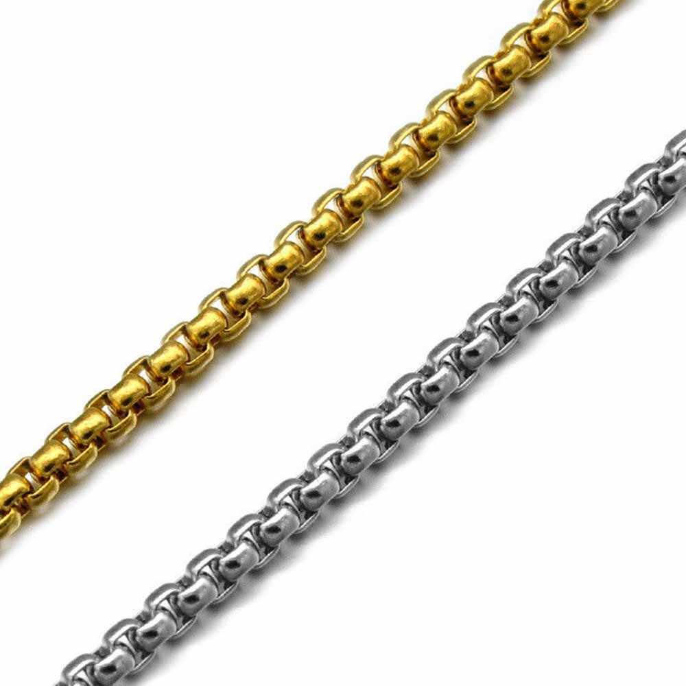 HIP HOP ชายสร้อยคอสแตนเลสหัวจี้สร้อยคอของขวัญเครื่องประดับ collares De moda