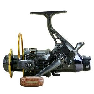 Image 3 - New Double Brake  Fishing Reel катушка для спининга Super Carp Fishing Feeder Spinning Reel Spinning wheel type fishing wheel MG