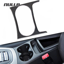 NULLA Carbon Fiber Interior Front Water Cup Holder Cover Decoration Accessories Sticker for AUDI Q5 2010 2011 2013 2015 2016