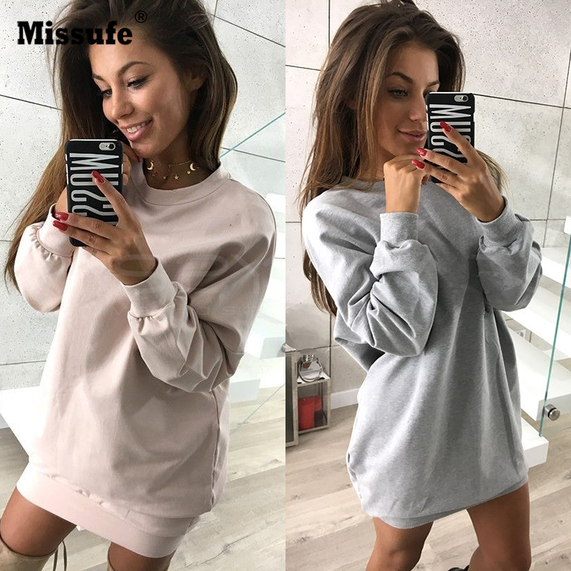 Women Hoodie Casual Loose Tunic 2017 Harajuku Multi Colors Autumn Winter Hoodies For Women Female Long Pullover Sweatshirts