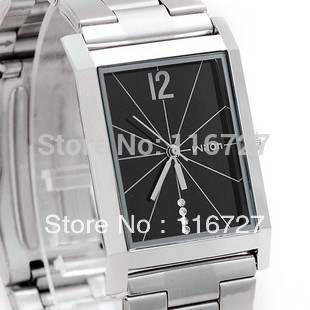brand wristwatches diamond quartz Lover Business Square Mens Watch fashion female full stainless steel watch