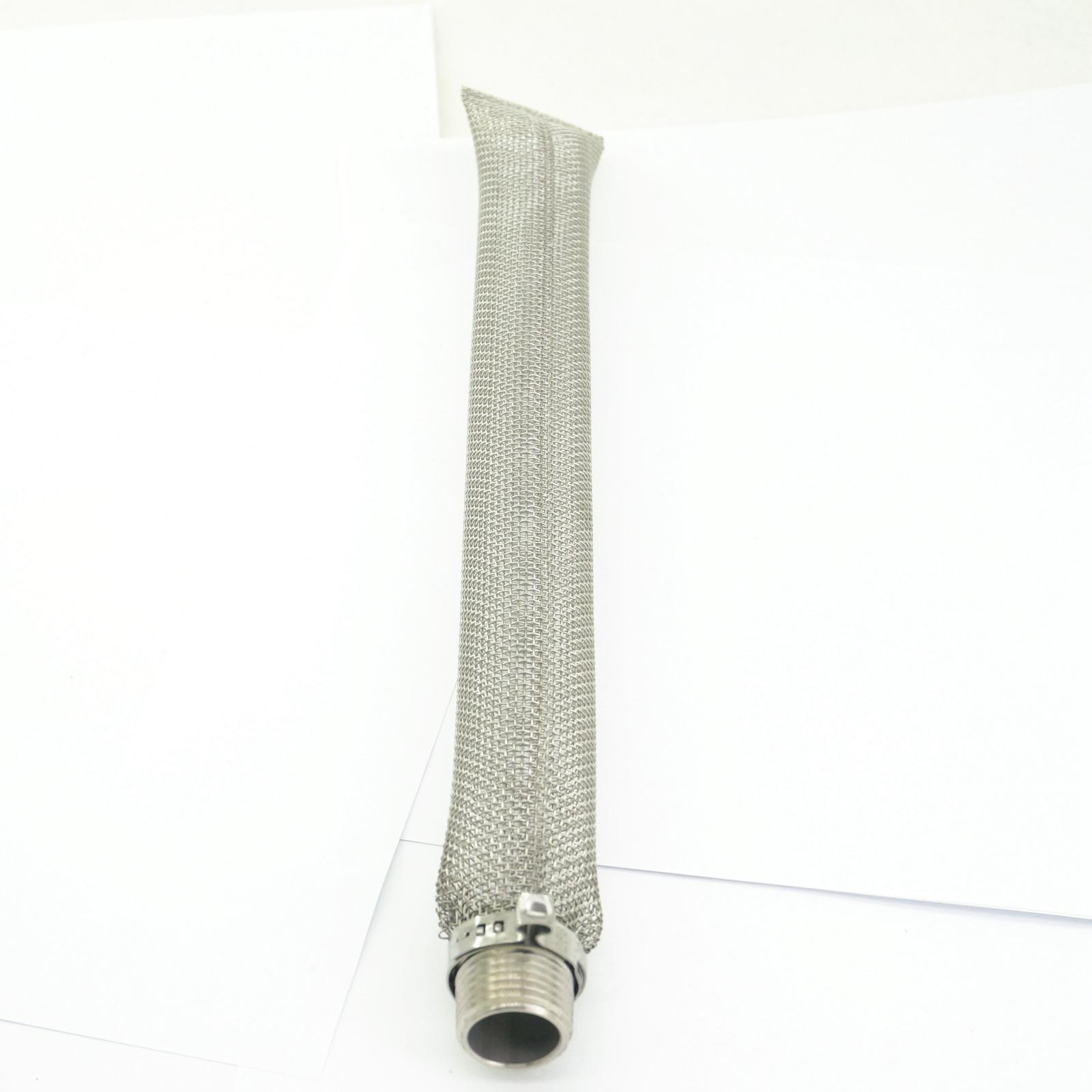 30cm 12 Inch 304 Stainless Steel Bazooka Screen Mesh Filter 1/2
