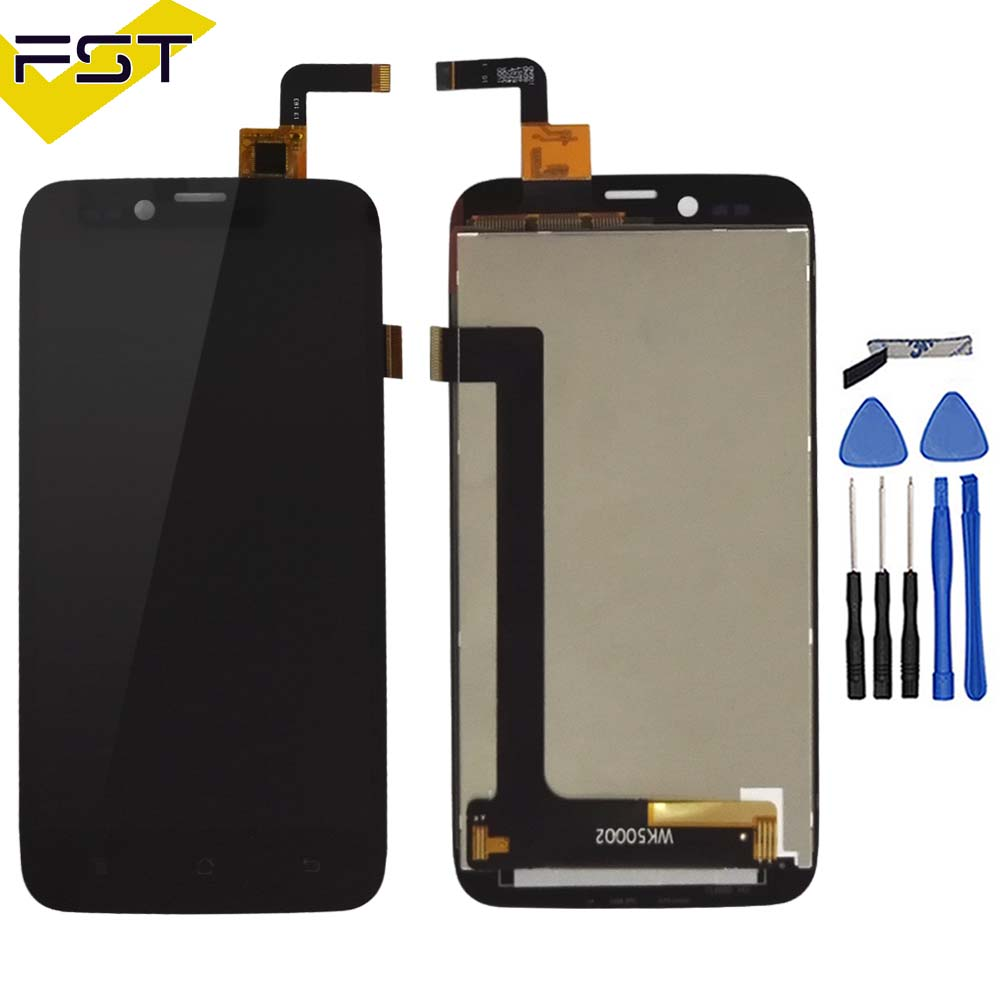 Black 100% Tested LCD Display For Archos 50 Platinum LCD Display Screen With Touch Screen Assembly+Adhesive Free Shipping