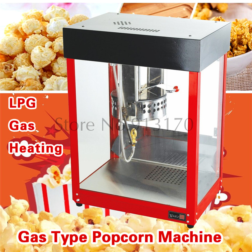 Gas Popcorn Maker Commercial Fire Heating Corn Popper Machine Available for Outdoor Selling Easy Operation high quality commercial home hot selling domestic electric gas hot air popcorn maker popcorn machine