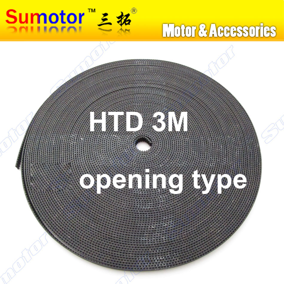HTD 3M Arc tooth Width 10mm Pitch 3mm Synchronous Rubber Opening timing belt Endless for CNC 3D printer Engraving machine htd 5m arc htd tooth lenght 600 700 800 mm pitch 5mm synchronous timing belt cnc 3d printer engraving machine part reciprocating