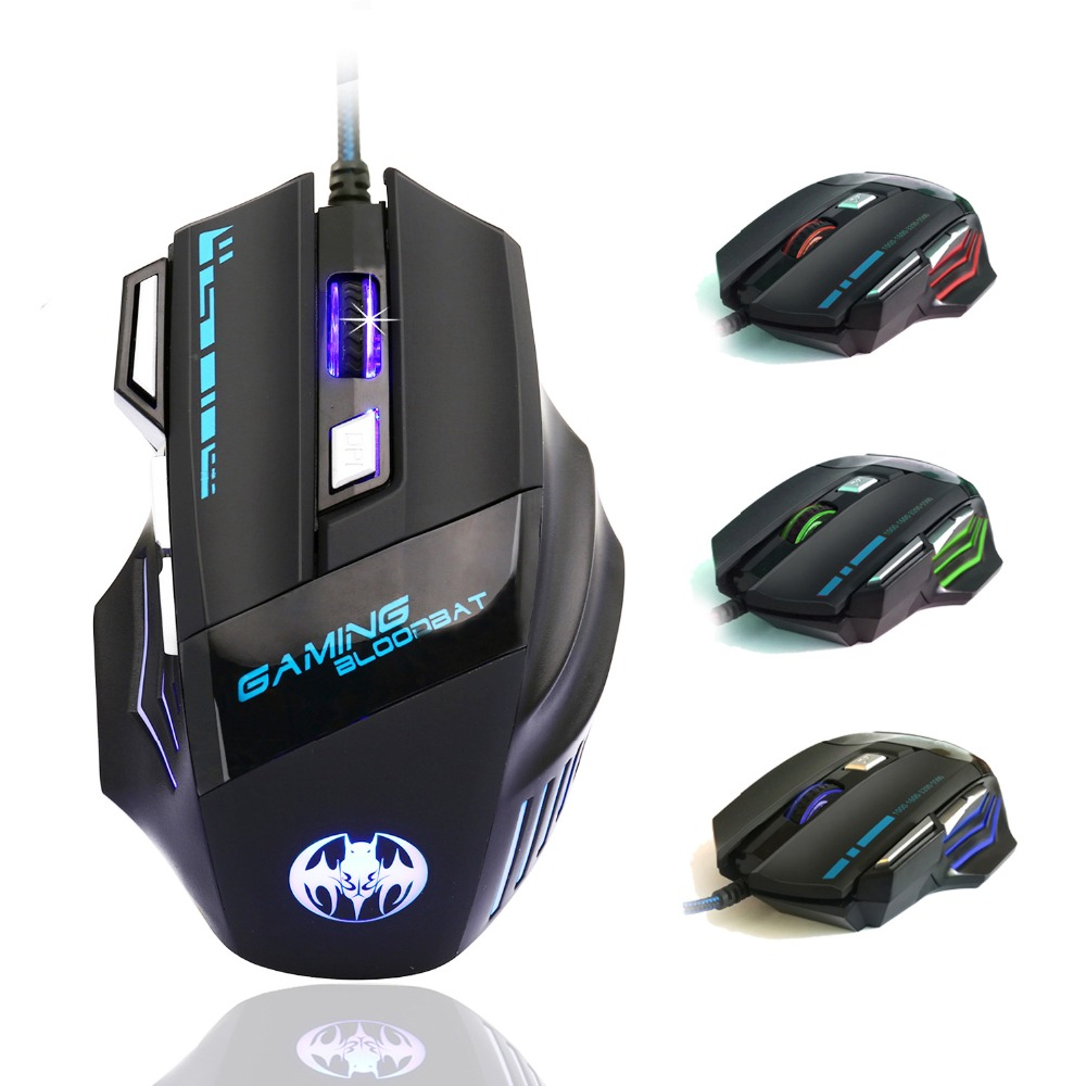 5500 DPI 7 Button Wired Gaming Mouse LED USB Optical Wired mouse gamer Computer Mouse Mice For Pro laptop desktop video game image