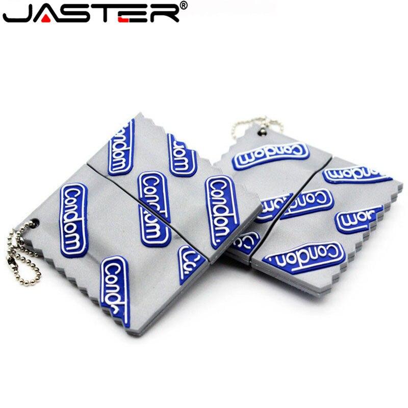 JASTER Fivestars Buy Usb 2.0 Flashdrive Cartoon Silicone Sexy Durex Usb Pendrive 4GB 8gb 16gb 32gb Memoria Usb Lover Gift