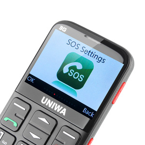 Image 5 - UNIWA V808G 2.31 Inch Mobile Phone 3G WCAMA Cellphone for Senior Old Man SOS 1400mAh Russian Keyboard 2G Cell Phone For Elderly