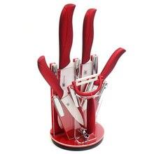 """Heiße Verkäufe 3 """"4"""" 5 """"6"""" Keramikmesser + Peeler + Küchenmesser Stehen Kitchen Zubehör XYJ Zirkonia Messer Acrylmesserstandaufbau"""