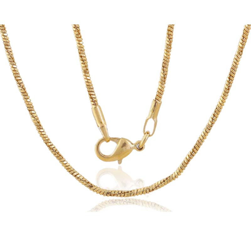 Gold-color Snake Chain Copper Made Fashion Women Jewelry Men Cloth Accessories 2017 New