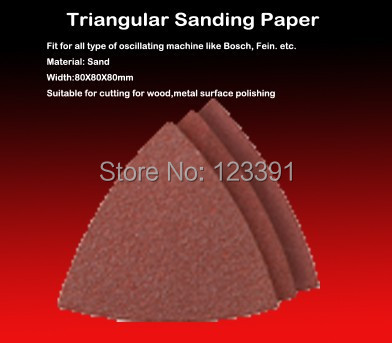 Free Shipping 25PCS 78MM Grit 60# 80# 120# 180# 240# Triangular Sandpaper For Most Multifunctional Tools Coarse Polishing