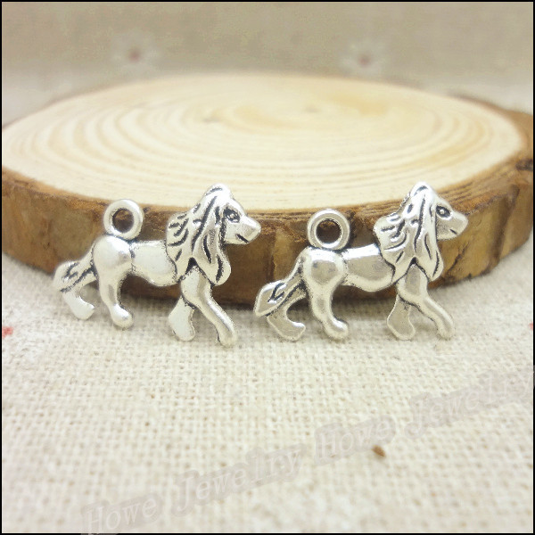 ✅Envío libre! 72 unids plata antigua Amuletos Leones colgante fit ...