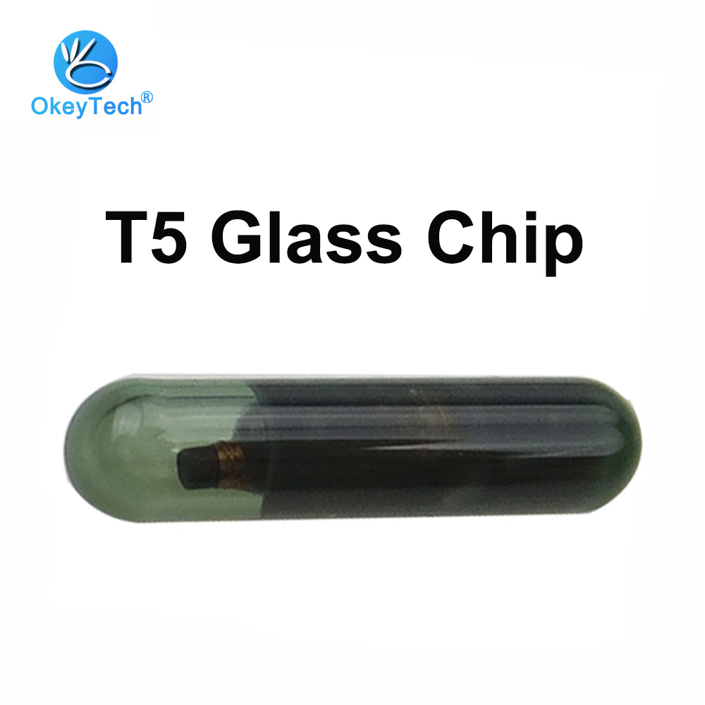 OkeyTech T5 Glass Chip Transponder Auto Car Remote Key for Programmer (ID20) Chip Locksmith Tool T5-20 Blank Chips ID T5 Tube