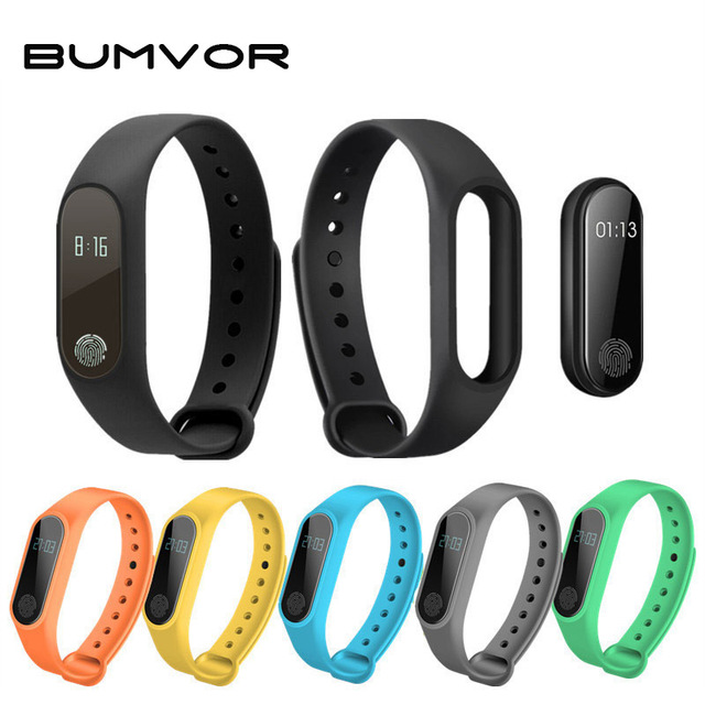 BUMVOR Smart Wristband M2 For Couple Top Gift Smart Bracelet Heart Rate Monitor