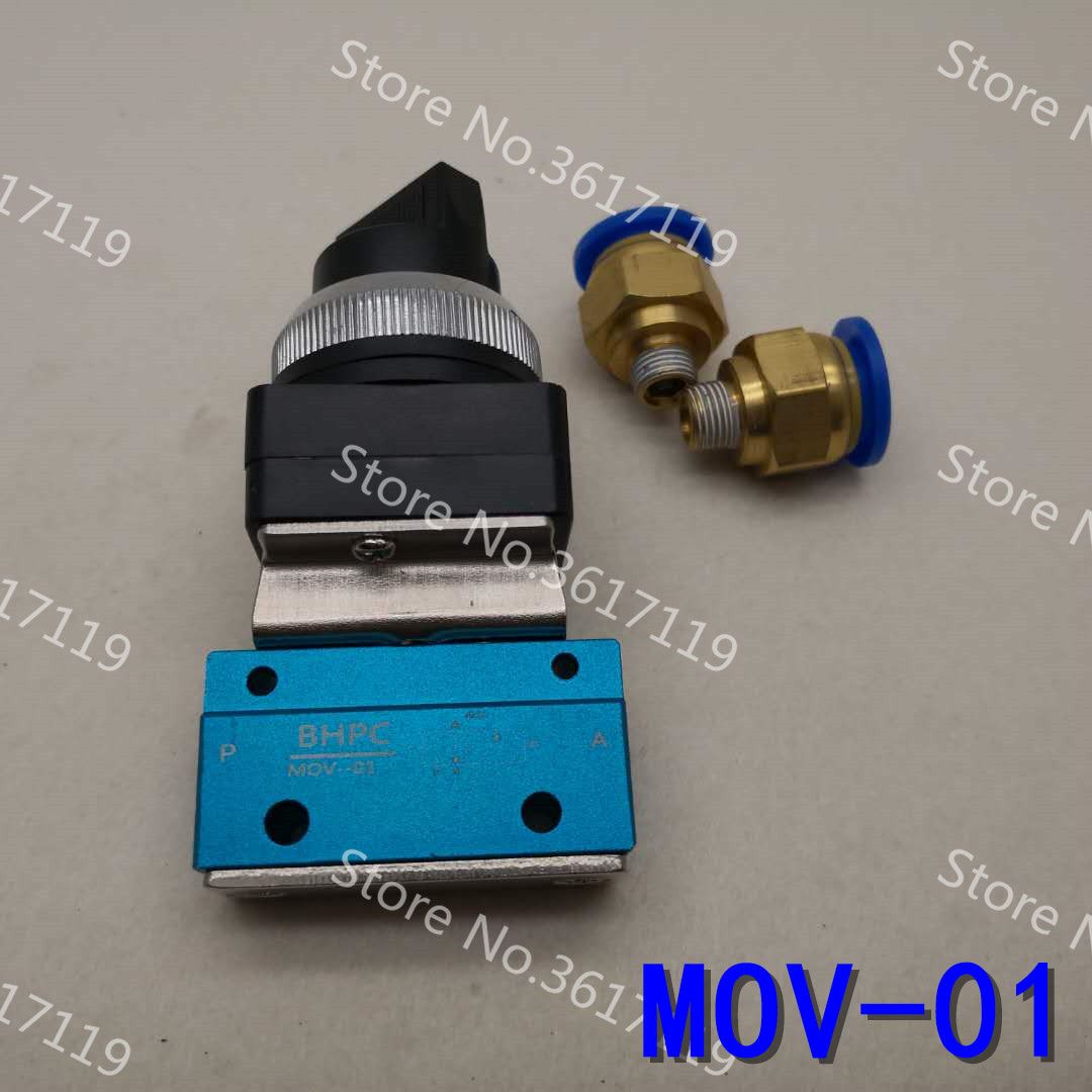 MOV-01 Select Button Swivel Mechanical Valve 2/2 Solenoid Valve Manual Valve Pneumatic Valve Manual Switch Air ControlMOV-01 Select Button Swivel Mechanical Valve 2/2 Solenoid Valve Manual Valve Pneumatic Valve Manual Switch Air Control