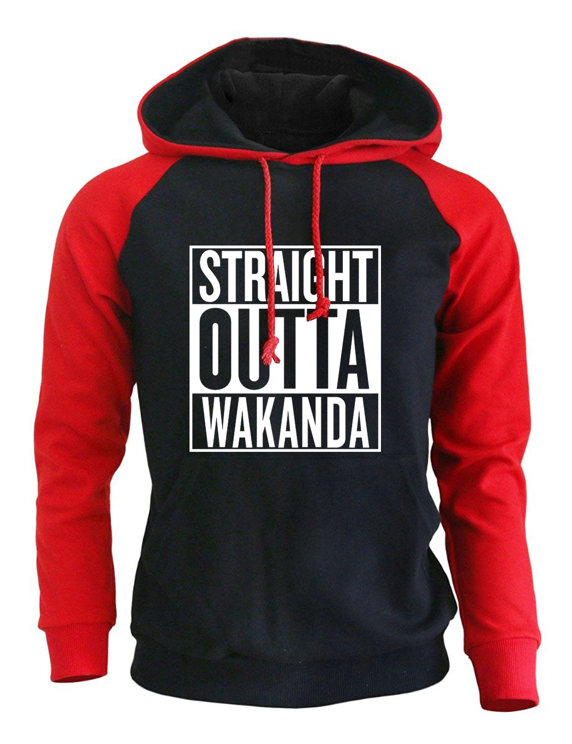 STRAIGHT OUTTA WAKANDA Men's Sweatshirts Black Panther Streetwear Hoody 2018 Fleece Autumn Winter Pullovers Harajuku Hoodies