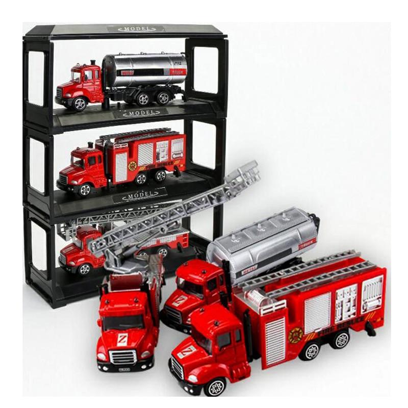 4Pcs/Set Kids Toy Cars Boys Alloy Car Model Construction Vehicles Eco-cars Children Miniature Truck Toys Set Birthday Gifts
