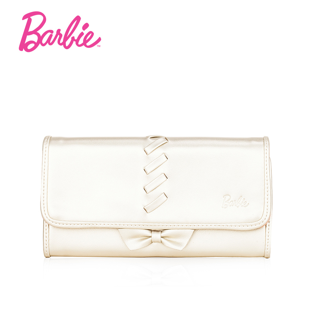 Barbie Bowknot Women Wallet And Purses Female Large Hasp Long Vintage Wallet High Quality PU Leather Credit Card Holder for Lady