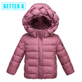 Winter new children's down coat jacket in children's girls winter coat hooded baby down winter jacket for girls