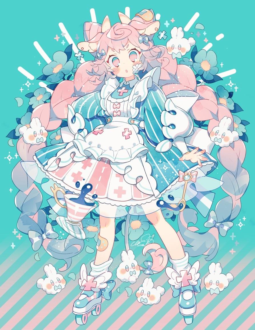 【P站画师】日本画师上倉エク的插画作品,今天再来看可爱的妹子图吧。- ACG17.COM