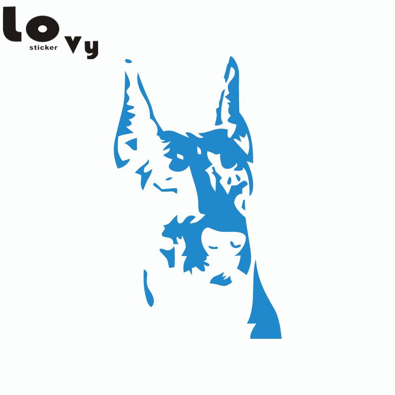 Creative Dog Dog Vinyl Car Sticker Funny Cartoon Doberman Silhouette - Exteriör biltillbehör - Foto 4