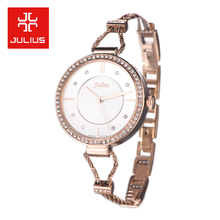 New Julius Lady Women s Wrist Watch Quartz Hours Best Fashion Dress Jewelry Rope Bracelet Office