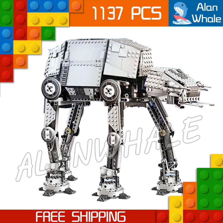 1137pcs Space Wars New 05050 Motorized Walking AT-AT DIY Model Building Blocks Toys Gifts Compatible with Lego 499pcs new space wars at dp robots 10376 model building blocks toys gift rebels animated tv series bricks compatible with lego