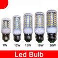 2021 wholesale new Hot Sale E27 E14 9W 12W 15W 20W SMD5730 led corn bulb lamp Warm/white lighting Free Shipping