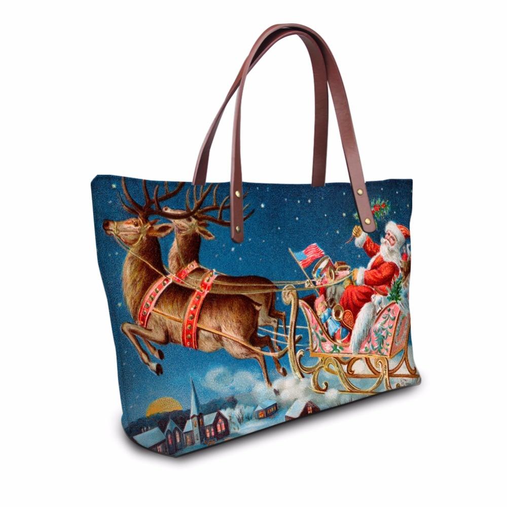 FORUDESIGNS Christmas Style Handbag For Women 2017 Luxury Women Bag Designer Daily Use Women Single Shoulder Shopping Bags Bolsa