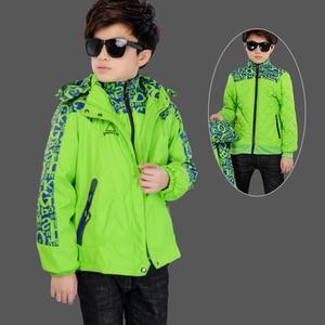 Image 5 - Kış erkek dış rüzgar geçirmez sıcak ceketler çocuk pamuk astar üçü bir arada giyim ve mont çocuklar su geçirmez baskı ceket