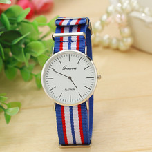 Famous Brand Dress Simple Clock Slim Stripes Men's Watch Saat Fabric Quartz Vogue Wrist Watches Reloj Hombre erkek kol saati