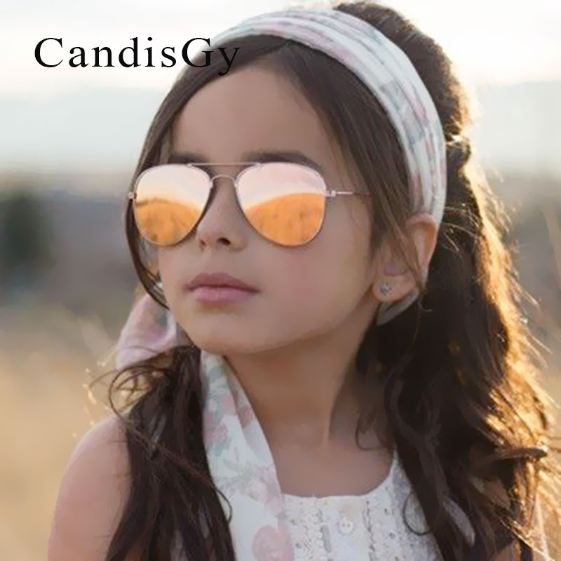 Kid Sunglasses Children Boys Girls Cute Mirror Baby Frame UV400 Mirror Pilot Fashion Eyewear Sun Glasses