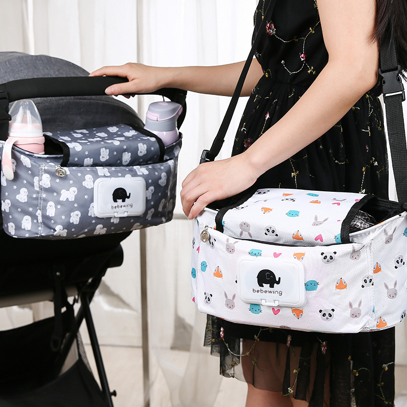 HTB1Sv57bMHqK1RjSZJnq6zNLpXaL Baby Stroller Organizer Bag with Tissue Pocket and Cup Holders Extra-Large Storage Space Baby Stroller Accessories Bag Nappy Bag