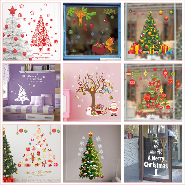 Diy Christmas Tree Wall Stickers For House Store Office Decoration