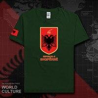Албании ALB албанский Мужская футболка 2018 Джерси Национальная Команда футболка 100% хлопок футболка одежда Футболки страна sporting20