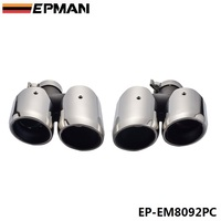 Chrome 304 Stainless Steel Exhaust Muffler Tip For Porsche 14 macan EP EM8092PC