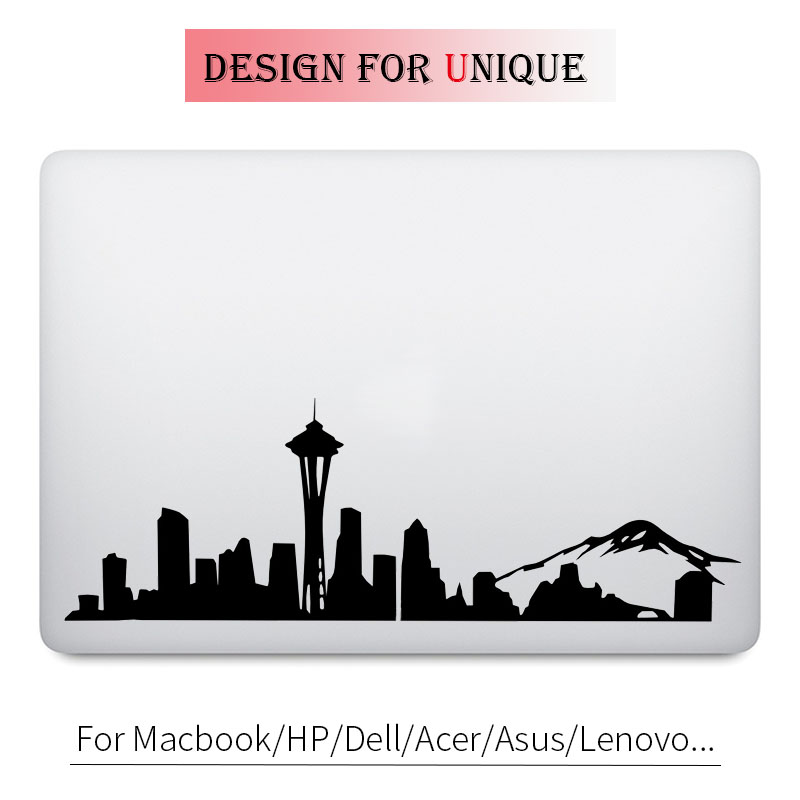 Seattle Skyline Decal Laptop Sticker for Apple Macbook Pro Air Retina Touch Bar 11 12 13 15 inch Mac HP Acer Surface Book Skin image