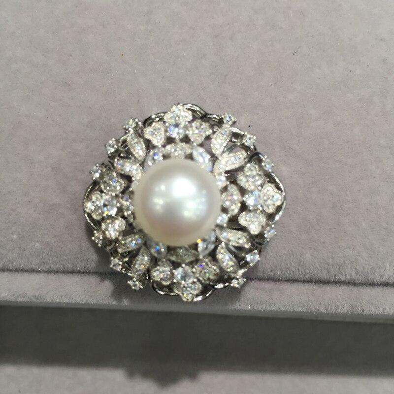 Bijoux à bricoler soi-même fermoir bijoux résultats connecteurs pour collier perle collier de verrouillage 925 argent sterling avec zircon cubique - 2