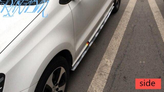 Universal Negro fibra de carbono frontal labio Splitter Chin Spoiler falda lateral cuerpo Kit Trim 2,5 metros para Jaguar XFL XE XF Pontiac