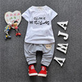 Baby Summer Leisure Clothes Set Children Short Sleeve Cotton T-shirt + Short Pants Sport Suits 2016 boys Clothing Sets For Kids