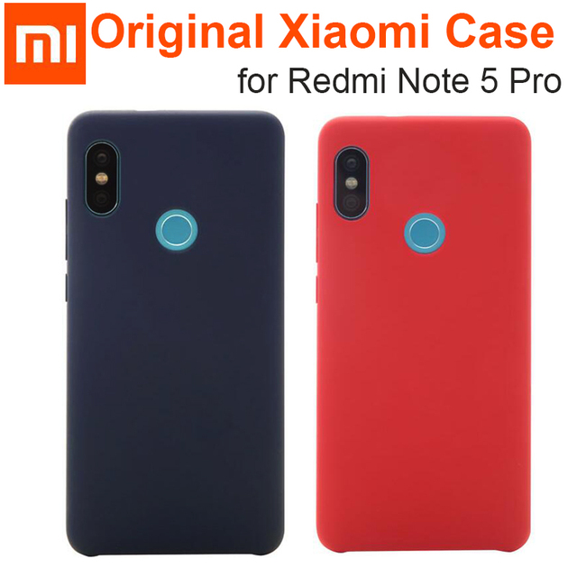 finest selection 339ba 433bc US $2.88 |Original Xiaomi Redmi Note 5 Pro case cover Official note5 global  version back cover Frosted shiled Soft Fiber fabric case coque-in Fitted ...