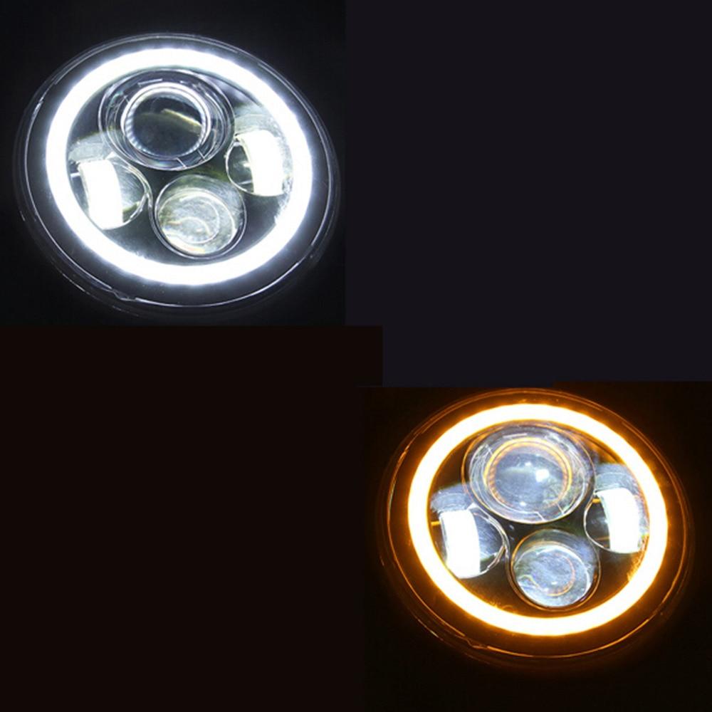 Good Deal 40w 7 Motorcycle Projector Led Light Bulb Headlight For Jeep Wrangler Bulbs