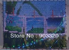 HOT Flexible P18 2M*4M 11*22 242 LEDS PC Control  LED Vision Curtain,LED Vision Cloth,LED Video Curtain For Concert,DJ Booth