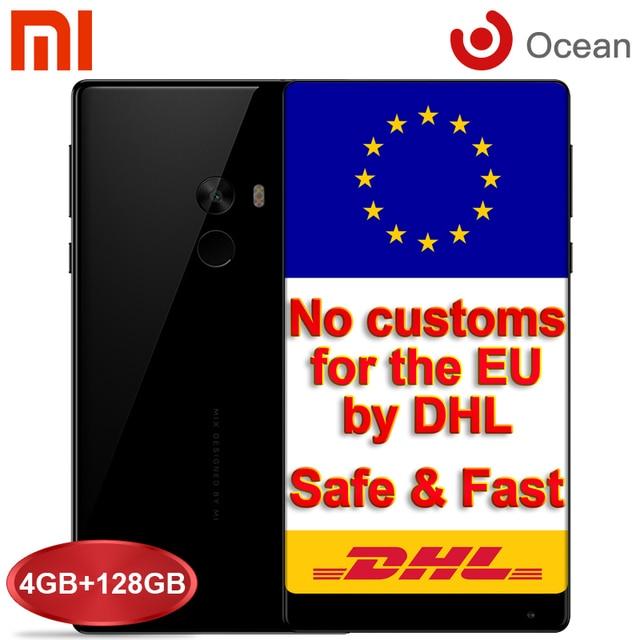 Оригинал Xiaomi Mi Mix 4 + 128 ГБ Мобильный Телефон Snapdragon 821 6.4 ''FHD Edgeless Дисплей 16MP Смартфон Android Xiaomi MiMix