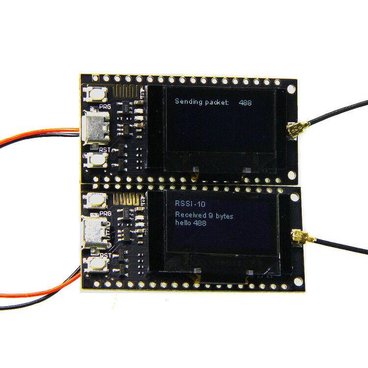 2 stücke TTGO SX1278 LoRa ESP32 0,96 zoll Blau OLED Display Bluetooth WIFI Lora Kit 32 Modul Entwicklung Bord 433 mhz für Arduino