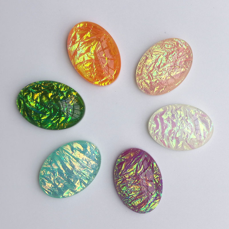 10 pcs Diameter <font><b>18x25mm</b></font> <font><b>Oval</b></font> 6 Colors Resin Stone <font><b>Cabochon</b></font> Dome Flat back beads DIY Jewelry Finding Cameo Pendant Settings S1007 image